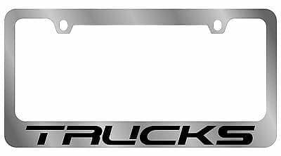 Гравировка автомобильной рамки Trucks