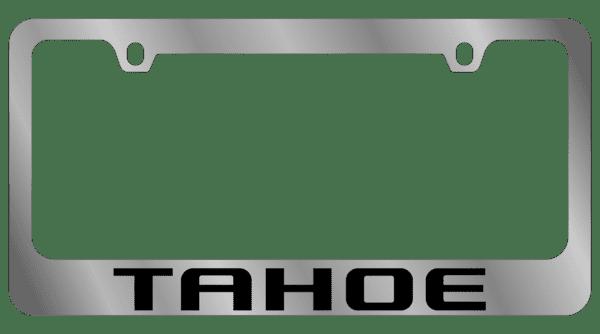 Гравировка автомобильной рамки Tahoe