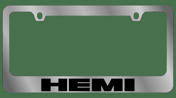 Гравировка автомобильной рамки Hemi