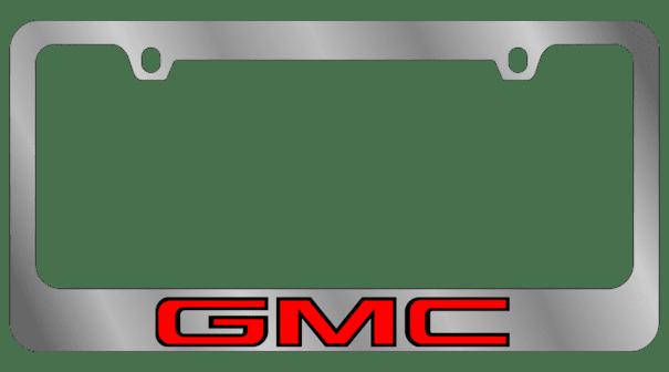Гравировка автомобильной рамки GMC