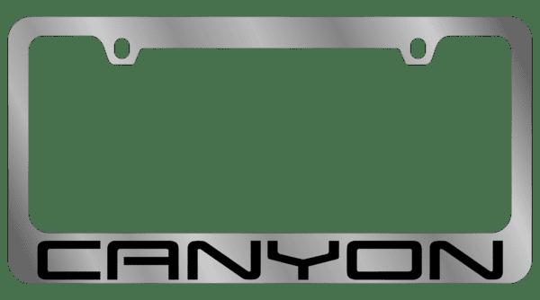 Гравировка автомобильной рамки Canyon