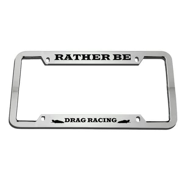 Гравировка автомобильной рамки Drag Racing