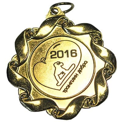 Медаль за участие в фестивале Трамплин добра