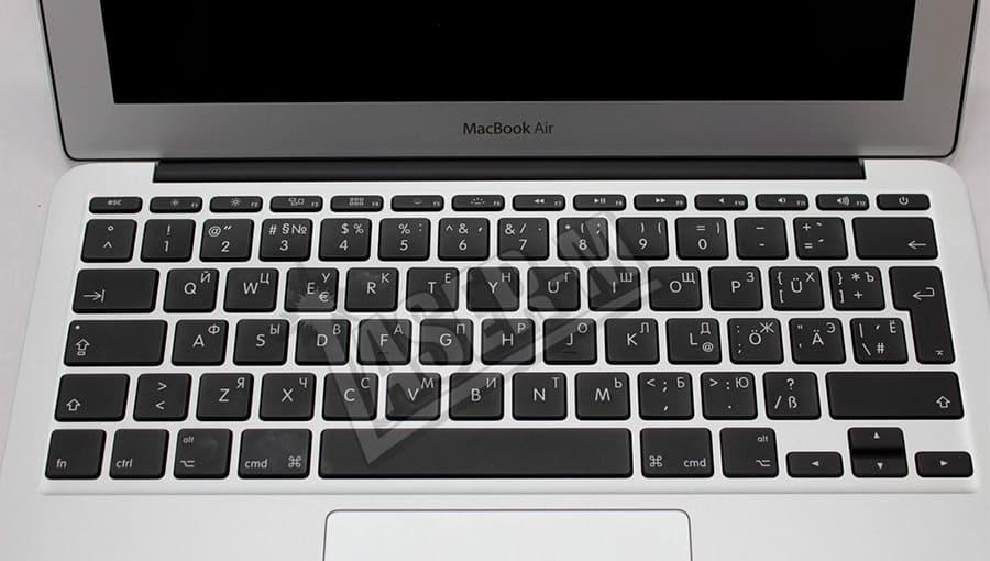 Гравировка клавиатуры для MacBook Air